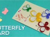 Simple Card Kaise Banate Hai Paper Quilling Card Design butterfly Greeting Card Pattern Simple and Easy Quilling