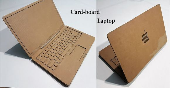 Simple Card Kaise Banta Hai How to Make A Laptop with Cardboard Apple Laptop