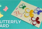 Simple Card Kaise Banta Hai Paper Quilling Card Design butterfly Greeting Card Pattern Simple and Easy Quilling