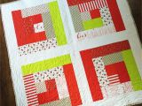 Simple Card Trick Quilt Pattern Easy Log Cabin Lap Quilt Tutorial Log Cabin Quilt Pattern