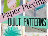Simple Card Trick Quilt Pattern Paper Piecing Tutorial Free Block Pattern Quilt Blocks