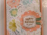 Simple Design for Greeting Card Happy Birthday Stampin Up Card with Images Happy