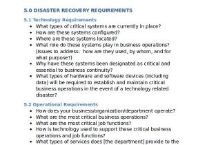 Simple Disaster Recovery Plan Template for Small Business 12 Disaster Recovery Plan Templates Free Sample