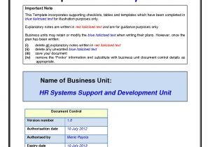 Simple Disaster Recovery Plan Template for Small Business Disaster Recovery Plan Sample for Small Business Business