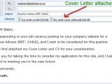 Simple Email format for Sending Resume to Company Cover Letter attached with Email