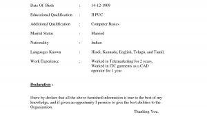 Simple Fresher Resume format Doc Resume format Doc File Download Resume format Doc File