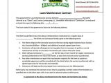 Simple Landscaping Contract Template 9 Lawn Service Contract Templates Free Word Pdf