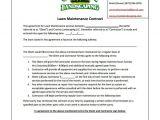 Simple Lawn Care Contract Template Bid Proposal Template for Lawn Care Templates Resume