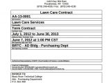 Simple Lawn Care Contract Template Lawn Service Contract Template 11 Download Documents In