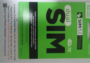 Simple Mobile Sim Card Activation Simple Mobile byop Regular Sim Trap Pack
