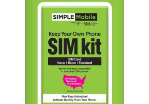 Simple Mobile Sim Card Activation Simple Mobile Keep Your Own Phone 3 In 1 Prepaid Sim Kit