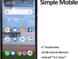 Simple Mobile Sim Card Walmart Simple Mobile Tcl A1 4g Lte Prepaid Smartphone Locked Black 16gb Sim Card Included Gsm