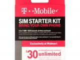 Simple Mobile Sim Card Walmart T Mobile Sim Starter Kit Walmart Com