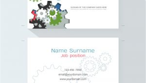 Simple Name Card Template Free Download Engineering Business Card or Name Card Template