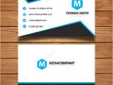 Simple Name Card Template Free Simple Blue and White Name Card Template for Free Download