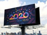 Simple New Year Card Design Modern 2020 Greeting Card