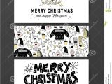 Simple New Year Card Design Set Of Vector Christmas New Year Congratulation Card