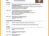 Simple Resume for Job Application Pdf 8 Sample Of Curriculum Vitae for Job Application Pdf