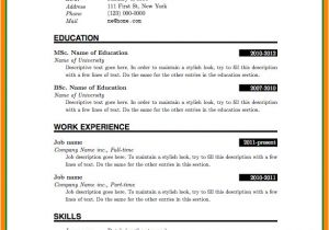 Simple Resume format Download In Ms Word for Fresher 5 Cv format Ms Word File theorynpractice