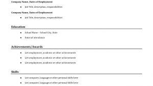 Simple Resume format Sample Of Simple Resume Sample Resumes