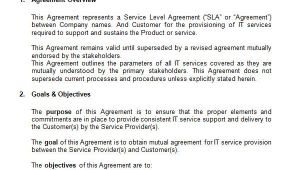 Simple Service Contract Template Doc Service Level Agreement 17 Download Free Documents In