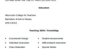 Simple Teacher Resume format Doc 21 Simple Teacher Resume Templates Pdf Doc Free