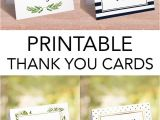 Simple Thank You Card Wording Printable Thank You Cards by Littlesizzle Unique and
