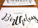 Simple Watercolor Birthday Card Ideas Geburtstagskarte Lettering In 2020 Geburtstagskarte