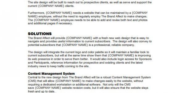 Simple Website Design Proposal Template 9 Website Design Proposal Templates to Download Sample
