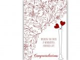 Simple Wedding Wishes to Write In A Card attractive Wedding Greeting Card Wonderful Married Life