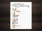 Simple Wedding Wishes to Write In A Card Bridal Shower Wedding Emoji Pictionary Game Bridal Shower