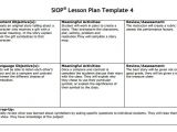 Siop Lesson Plan Template 4 8 Siop Lesson Plan Templates Download Free Documents In