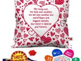 Sister and Brother In Law Anniversary Card Indigifts Rakhi for Brother Pyara Bhaiya with Roli
