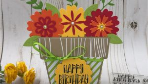 Sizzix Card Flower and Circle Drop-ins Pin On Cricut Card Fold Its