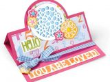 Sizzix Card Flower and Circle Drop-ins Sizzix 661566 Framelits Set Karte Kreis Stand Ups Von