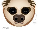 Sloth Mask Template Sloth Face Template Related Keywords Sloth Face Template