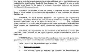 Small Business Loan Contract Template Sample Business Loan Agreement 6 Free Documents