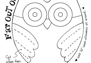 Small Owl Template Denise Loves Art Diy Make This Cute Owl Plushie with My