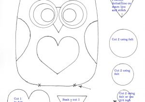 Small Owl Template July 25 Bean Bags