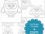 Small Owl Template Printable Owl Shape Template Printable Treats Com