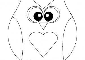 Small Owl Template Printable Owl Template for Kids