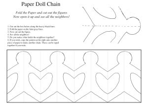 Snowman Paper Chain Template 5 Best Images Of Printable Paper Chain People Template