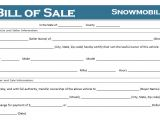Snowmobile Bill Of Sale Template Free Printable Snowmobile Bill Of Sale for All States