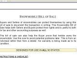 Snowmobile Bill Of Sale Template Snowmobile Bill Of Sale Template Invoice Design Inspiration