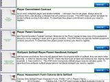 Soccer Player Contract Template Travel softball Player Contract Pdf
