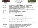 Soccer Player Resume Sample College soccer Player Resume soccer Pinterest