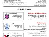 Soccer Player Resume Sample soccer Cv Resume