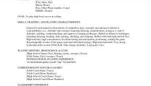 Soccer Player Resume Sample soccer Player Resume Example Resume Ideas