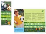 Soccer Team Brochure Template soccer Sports Camp Brochure Template Design