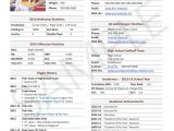 Soccer Team College Recruiting Brochure Template Player Profile College Recruiting softball Pinterest